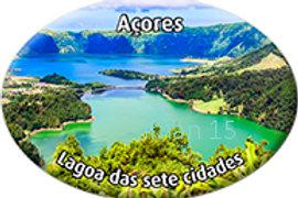 Íman oval 45x65   Açores 15   embª12