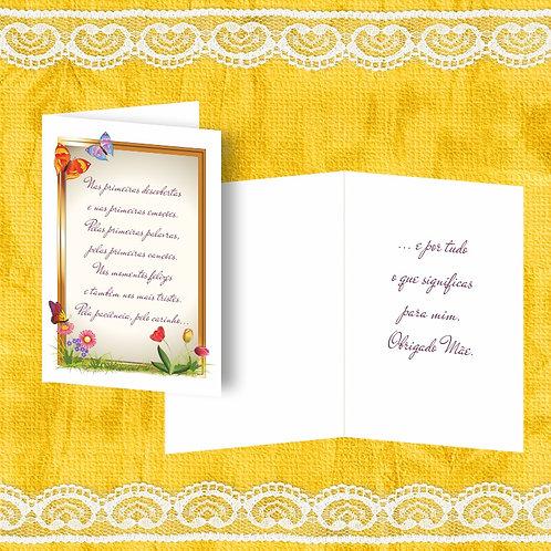 Mini Cartão com envelope - embª 12 - refª MÃE 4