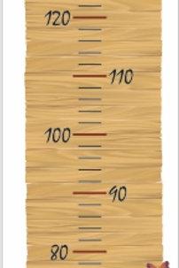 Régua em madeira natural 120x30cm - mod. 12