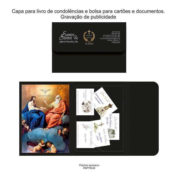 Capa para livro do condolências formato 25x17cm
