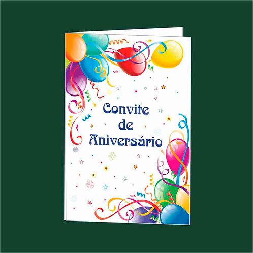 Convite Anivª 04 - Embª 25 com envelope