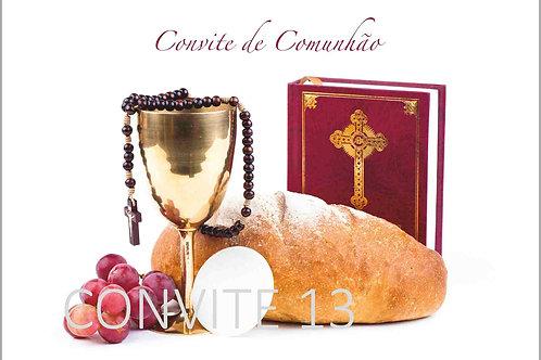 Convite Comunhão 13 - 10x15cm - embª 6 com envelope