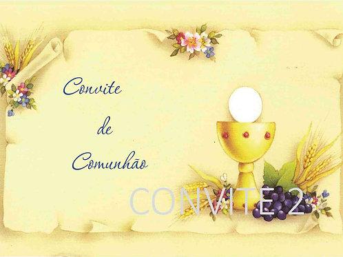 Convite Comunhão 2 - 10x15cm - embª 6 com envelope