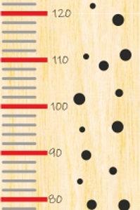 Régua em madeira natural 120x30cm - mod.5