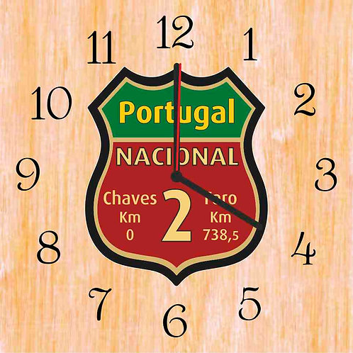 Relógio em madeira 25x25cm