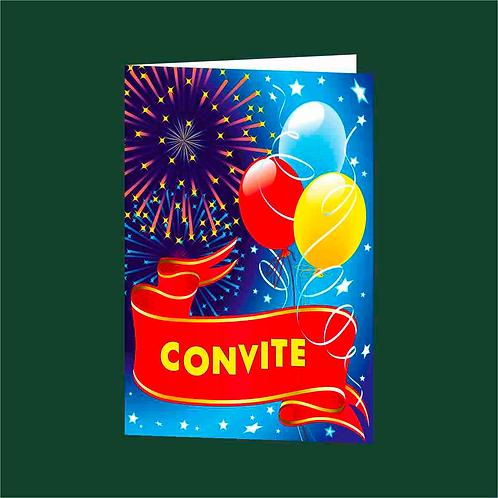 Convite Anivª 01 - Embª 25 com envelope