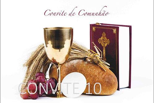 Convite Comunhão 10 - 10x15cm - embª 6 com envelope