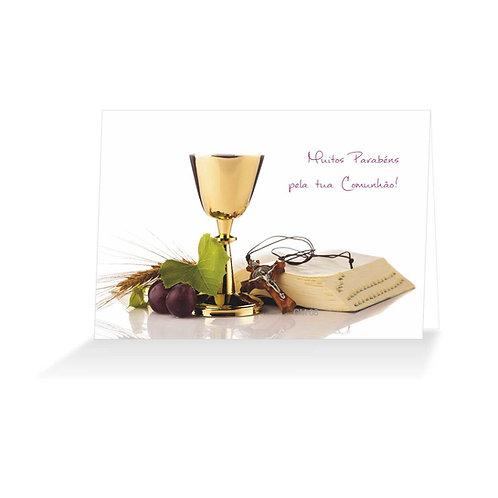 Cartão felicitações Comunhão - 8 modelos - embª 48 (6 de cada)