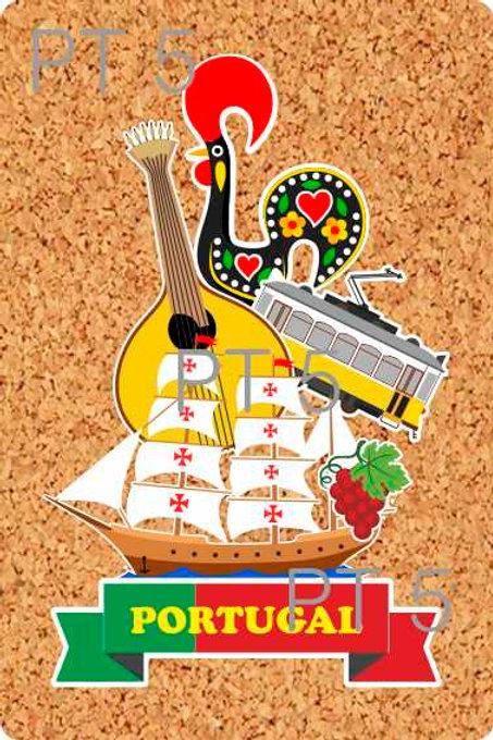 Postal cortiça Portugal 5 - embª 18