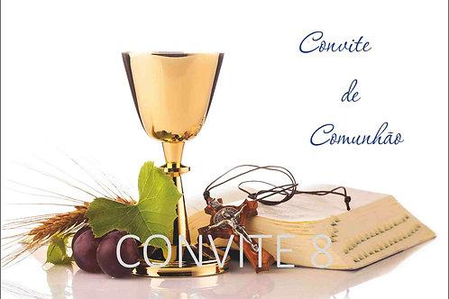 Convite Comunhão 8 - 10x15cm - embª 6 com envelope