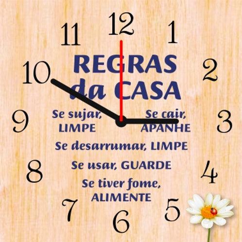 Relógio em madeira - 25x25cm - mod. 8