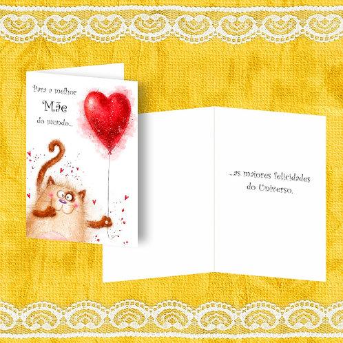 Mini Cartão com envelope - embª 12 - refª MÃE 6