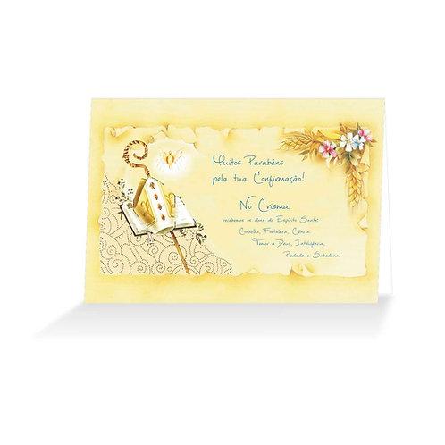 Cartão Felicitações Crisma 02 - Embalagem 12 (6 de cada)