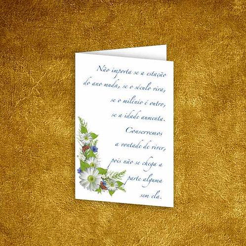 Mini Cartão com envelope - embª 12 - refª 20