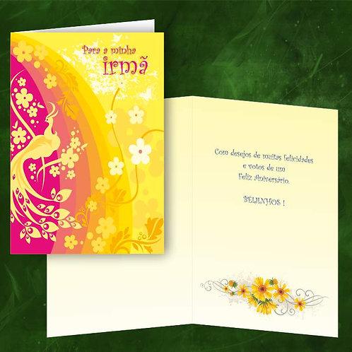 Cartão felicitações Irmã   embª 6