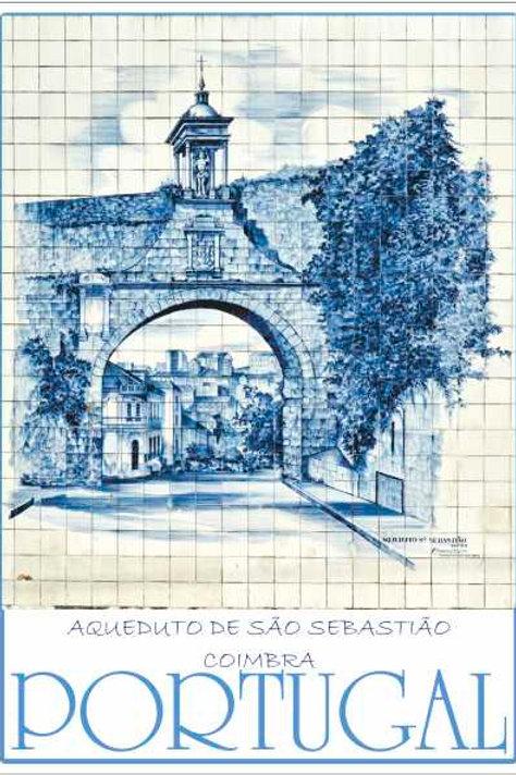 Postal Azulejo Coimbra 6 - embª 50
