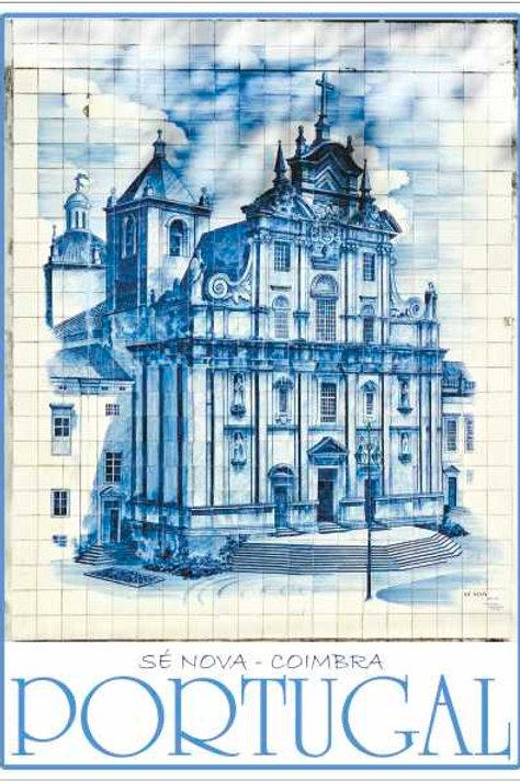 Postal Azulejo Coimbra 5 - embª 50