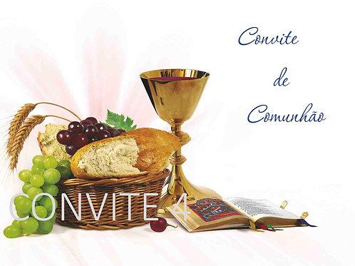 Convite Comunhão 4 - 10x15cm - embª 6 com envelope