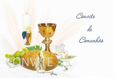 Convite Comunhão 3 - 10x15cm - embª 6 com envelope