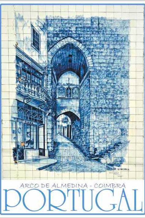 Postal Azulejo Coimbra 4 - embª 50