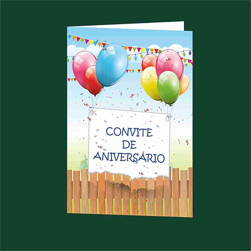 Convite Anivª 05 - Embª 25 com envelope