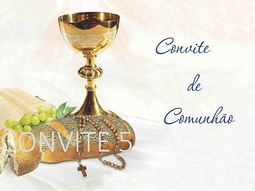 Convite Comunhão 5 - 10x15cm - embª 6 com envelope