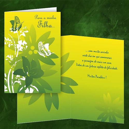 Cartão felicitações Filha | embª 6