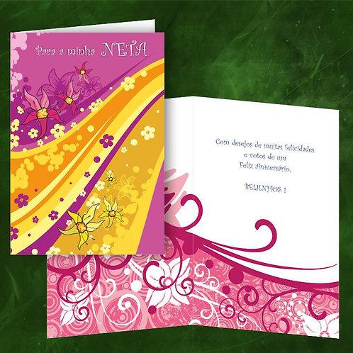 Cartão felicitações Neta | embª 6