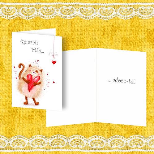 Mini Cartão com envelope - embª 12 - refª MÃE 5