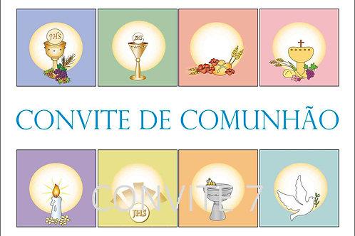 Convite Comunhão 7 - 10x15cm - embª 6 com envelope