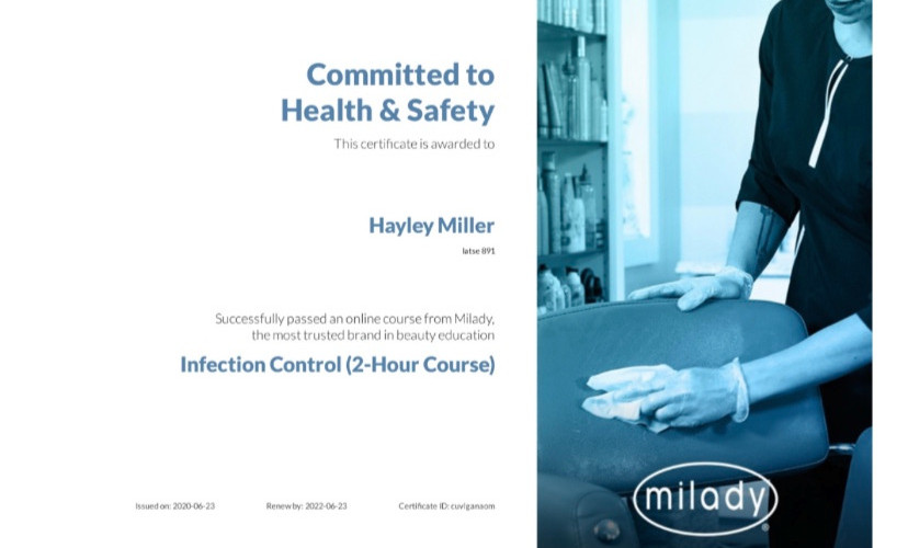 milady Infection Control