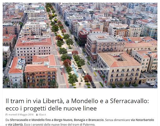 tramway line Palermo