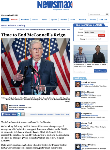 Time to End McConnell's Reign