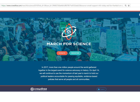 March for Science, 14th April 2018