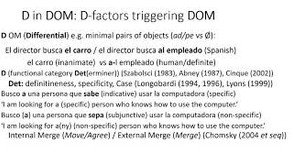 'What is D in DOM (Differential Object Marking)? Oral (virtual) presentation at the Hispanic and Lus
