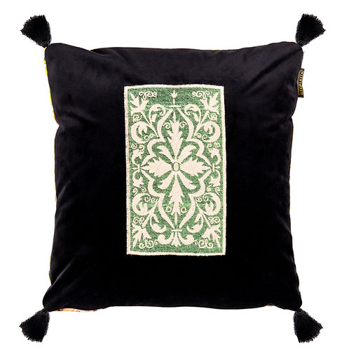 Mind the Gap Spanish Embroidery Velvet Cushion