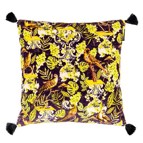 Mind the Gap La Voliere Velvet Cushion