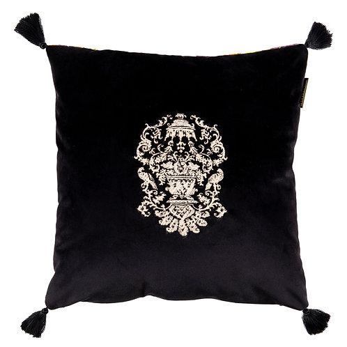 Mind the Gap Manor Crest Velvet Embroidered Cushion