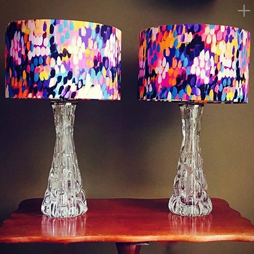 Pink & Purple Patterned Lampshade