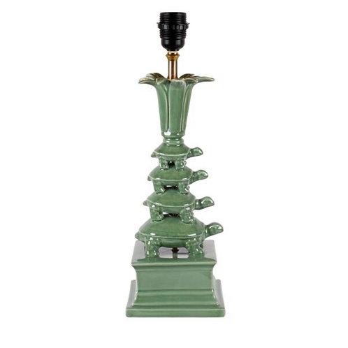 Mariska Meijers Green Porcelain Turtle Tower lamp stand