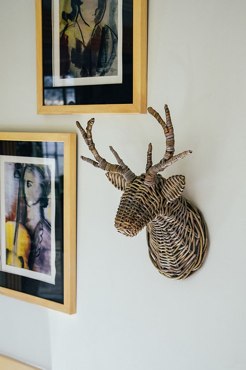 Wicker Deer Head