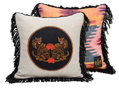 Mind the Gap Bengal Tigers Cushion