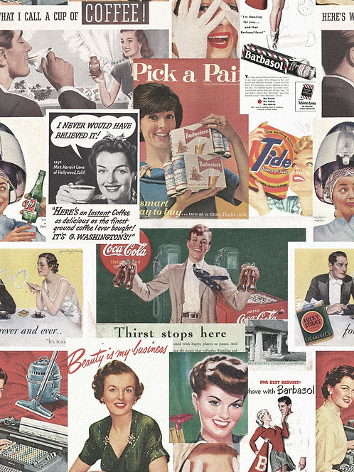 Mind the Gap - Retro Ads Wallpaper