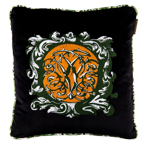Mind the Gap Ornamental Velvet Cushion