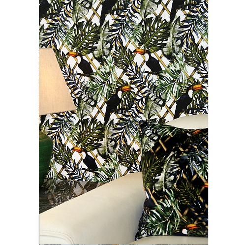 Charlotte Jade Wild Garden Wallpaper ( White Background)