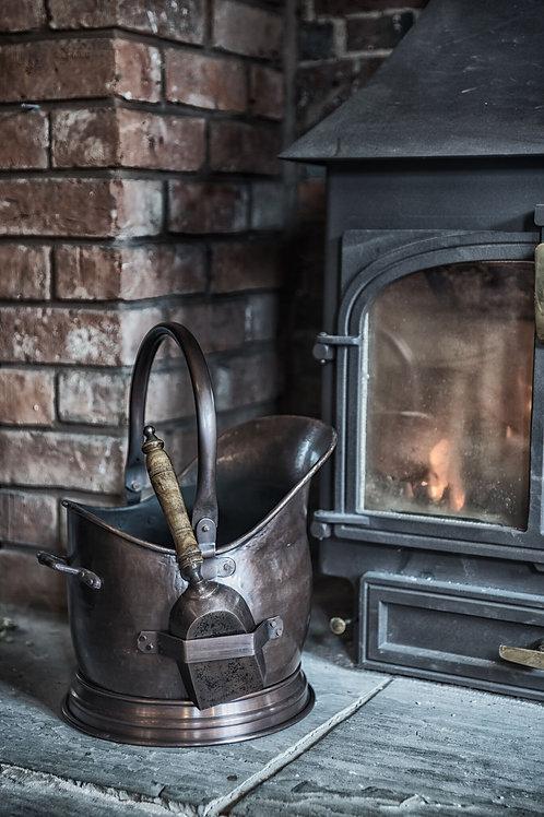 Antique Copper Coal Bucket