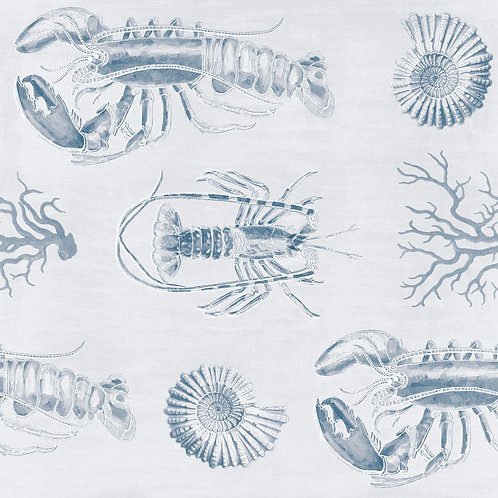 Mind The Gap - Lobster Blue Wallpaper
