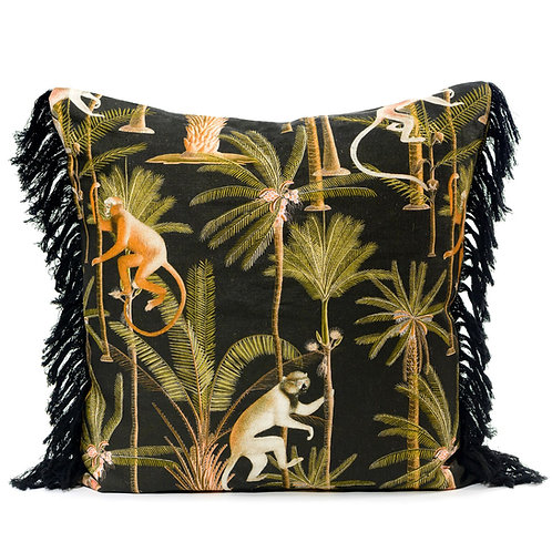 Mind the Gap Barbados Anthracite Linen Cushion