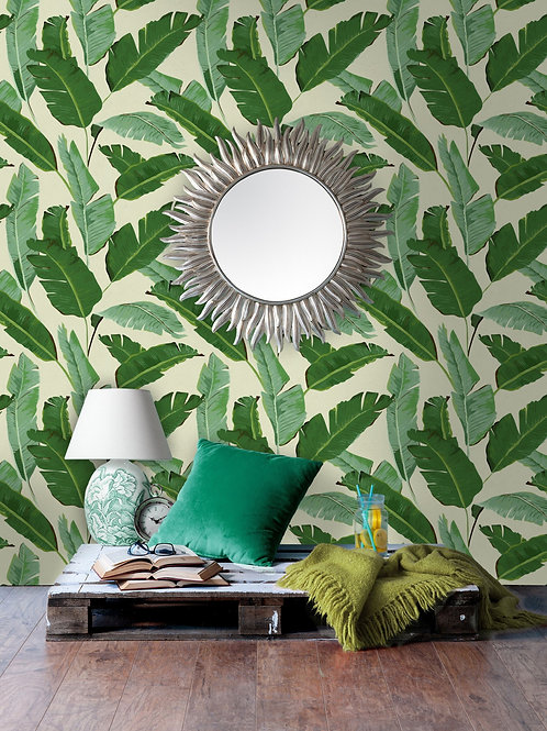 Mind the Gap - Banana Leaves Wallpaper