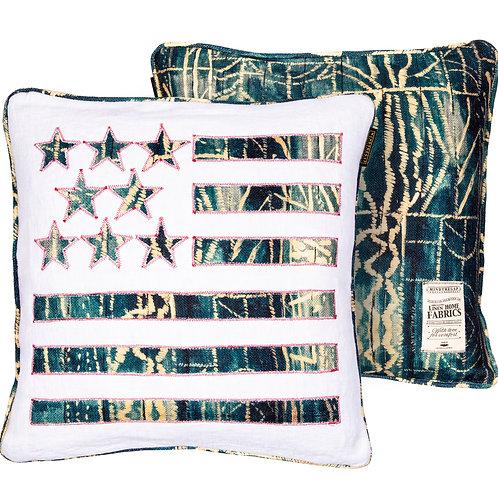 Mind the Gap Stars and Stripes Cushion